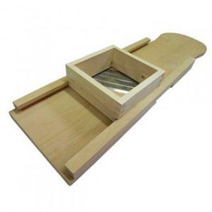 Razatoare de varza manuala, dimensiune mare, 4 cutite, cu sertar