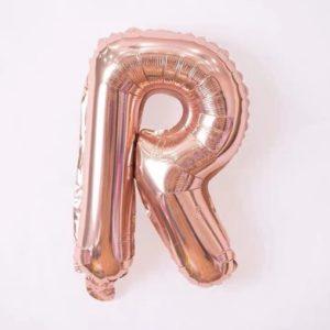 Baloane cu Litere - Balon Litera R, 42cm, rose-gold