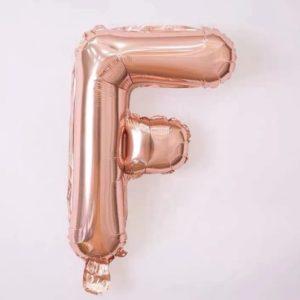 Baloane cu Heliu - Balon Litera F, 42cm, rose-gold