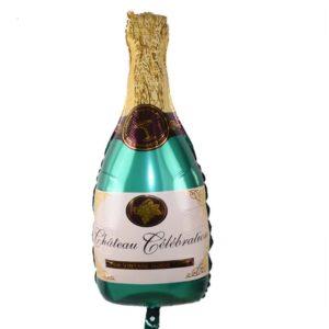 Baloane Petrecere: Balon Mare Sticla Sampanie, Heliu sau Aer