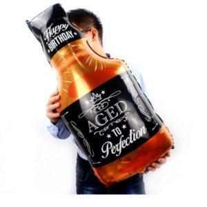 Balon Mare Sticla Whisky, Heliu sau Aer - Baloane Petrecere