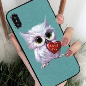 Husa Telefon iPhone 6 6s - Model Bufnita cu Inima