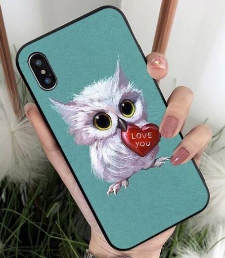 Husa Telefon iPhone 6 Plus / iPhone 6s Plus - Model Bufnita cu Inima
