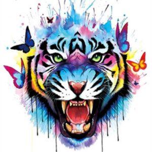 Tatuaje Temporare - Tatuaj Tigru si Fluturi