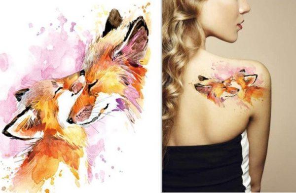Tatuaje Temporare - Tatuaje Fete cu Vulpi