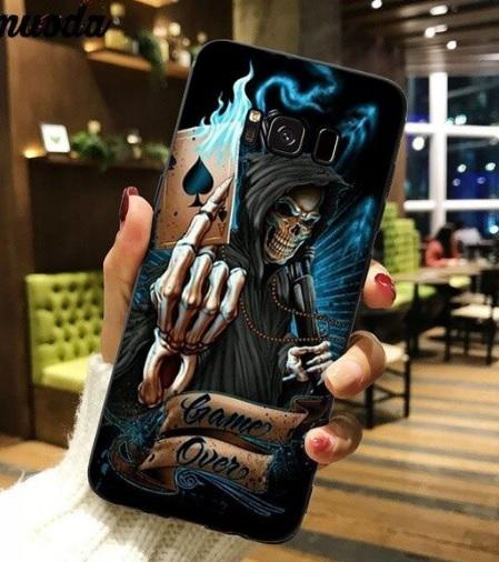Husa Telefon Samsung Galaxy S5 - Model Schelet Carte de Joc Moartea, Game Over