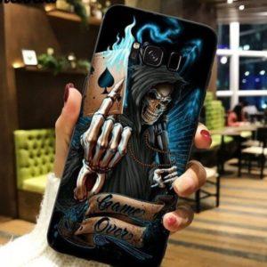 Husa Telefon Samsung Galaxy S6 - Schelet cu Carte de Joc, Moartea, Game Over