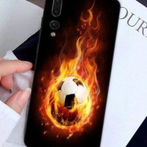 Husa Telefon Huawei P10 - Imagine Personalizata Minge de Fotbal in flacari