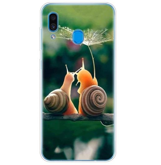 Husa Telefon Samsung Galaxy A20 - Melci cu Umbrela