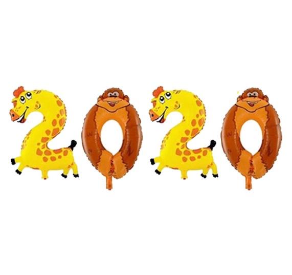 Set Baloane Animale 2020 pentru petrecere Revelion, Anul Nou
