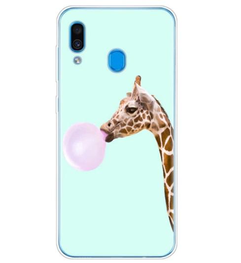 Husa Telefon Samsung Galaxy A20e - Girafa cu Balon din Guma