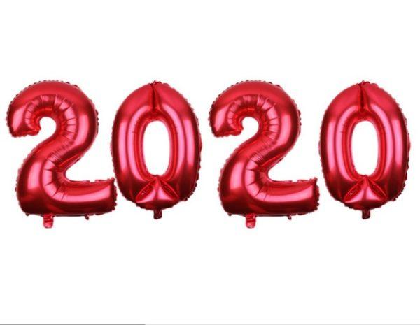 Set Baloane Cifre 2020 Rosii, Petrecere Revelion, Anul Nou