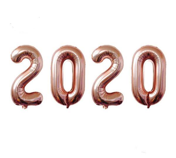 Set Baloane Cifre 2020, Rose Gold
