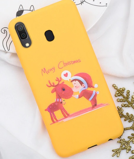 Husa Telefon Samsung Galaxy A20 - Model Ren si Elf - Merry Christmas