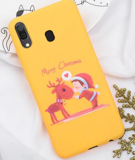 Husa Telefon Samsung Galaxy A7 2018 - Culoare Galbena - Model Ren si Elf