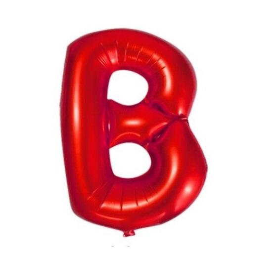 Balon Litera B - Baloane Rosii Litere, Aer sau Heliu