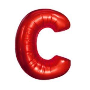 Balon Litera C, 42cm, Rosu, Heliu sau Aer