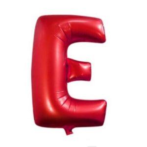 Balon Litera E, 42cm, Rosu, Heliu sau Aer