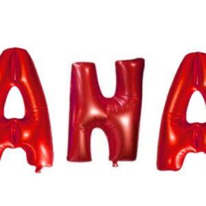 Set Baloane Litere Rosii Nume: ANA - Heliu Sau Aer