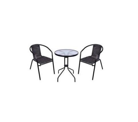 Set masa si scaune Strend Pro Alesia Anthracit, gradina sau terasa