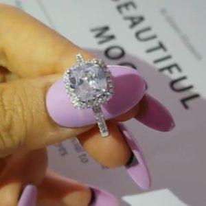 Inel de logodna din argint 925, piatra zirconiu
