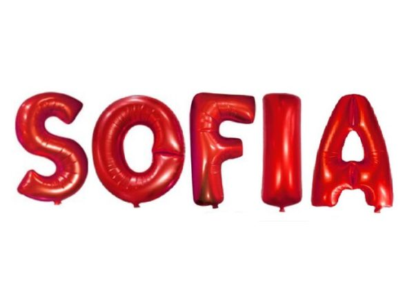 Baloane SOFIA din Litere Rosii