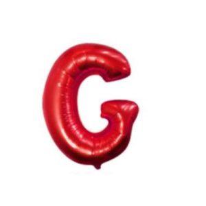 Balon Litera G, 42cm, Rosu, Heliu sau Aer