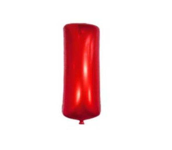 Balon Litera I, 42cm, Rosu, Heliu sau Aer