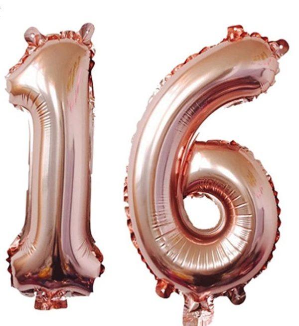 Set Baloane Mari Cifre Numar 16 - Balon 16 - 101cm