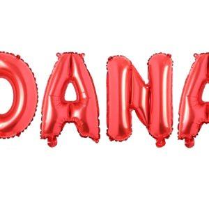 Set Baloane Litere Rosii Nume DANA - Balon DANA