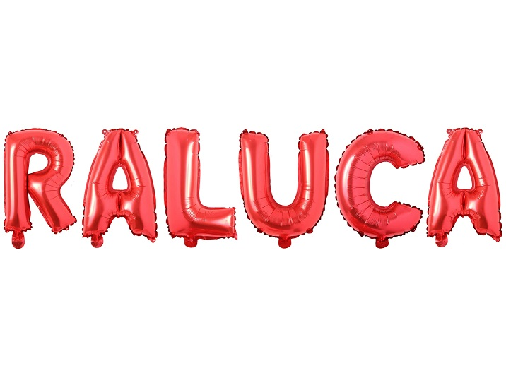 Baloane Litere Rosii Nume RALUCA - Balon RALUCA