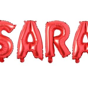 Set Baloane Litere Rosii Nume SARA - Balon SARA