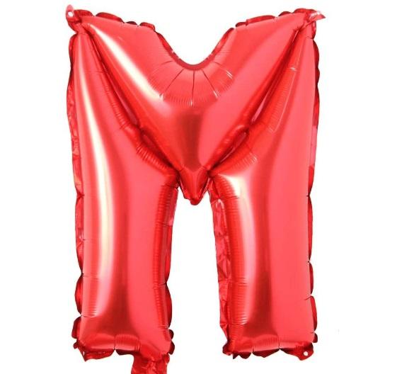 Balon Litera M, 42cm, Rosu - Balon M