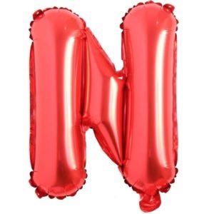 Balon Litera N, 42cm, Rosu - Baloane Litere