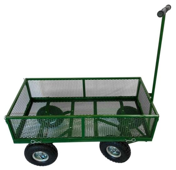Carucior Mare Gradina / Curte Rezistent pentru transport Legume, Fructe, Lemne - Carut Gradina
