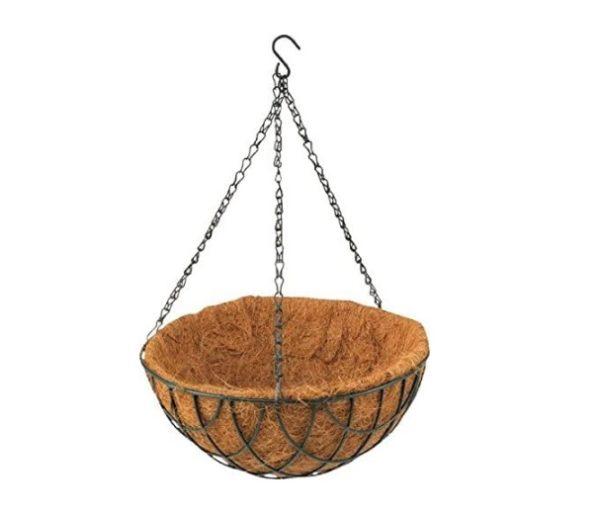 Ghiveci de Flori Agatat / Suspendat din Fibra de Cocos, 30cm, Verde