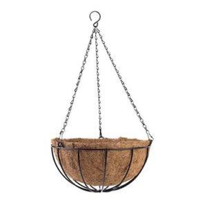 Ghiveci Suspendat / Agatat din Cocos, Lanturi cu Carlig, 35cm
