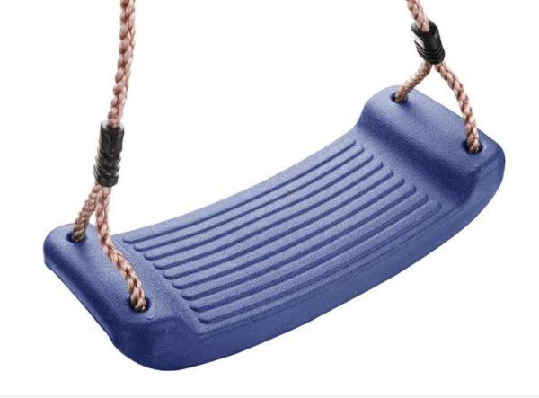 Leagan rezistent copii / adulti pentru exterior, gradina sau curte, plastic si sfoara impletita, albastru
