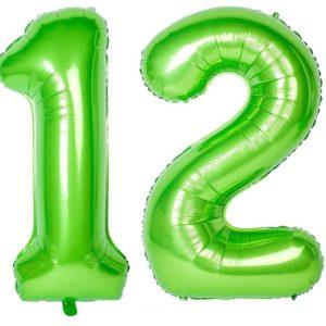 Set baloane uriase cifre numar 12, verzi, 113cm - Balon 12