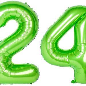 Set baloane uriase cifre numar 24, verzi, 113cm - Balon 24