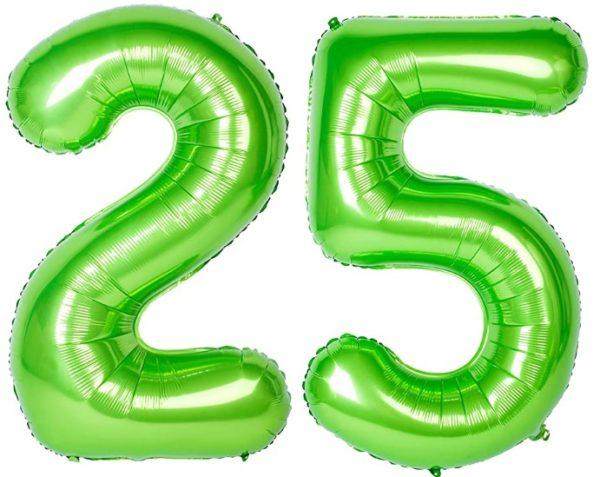Baloane uriase cifre numar 25, verzi, 116cm - Balon 25