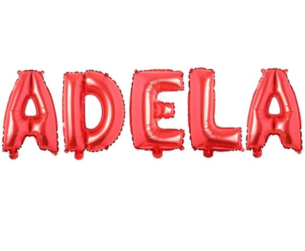 Set Baloane Litere Rosii Nume ADELA - Balon ADELA