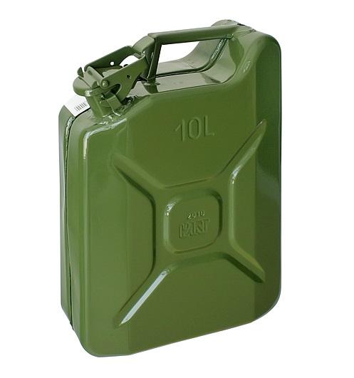 Canistra metalica pentru combustibil, 10L, verde - Ulei, motorina sau benzina