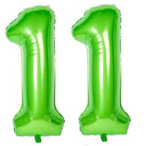 Set baloane uriase cifre numar 11, verzi, 103cm - Balon 11