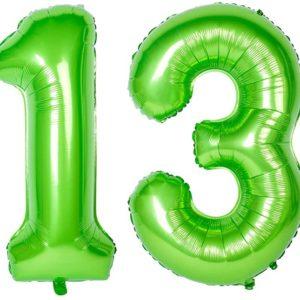 Set baloane uriase cifre numar 13, verzi, 113cm - Balon 13