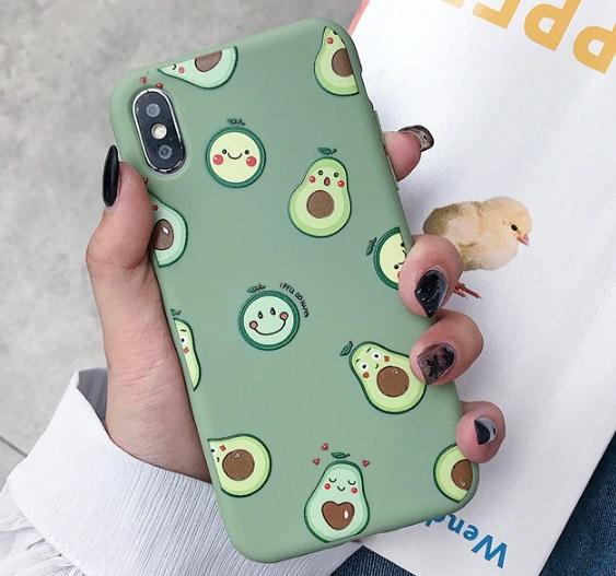 Husa Telefon Huawei P30 - Avocado & Smiley Faces