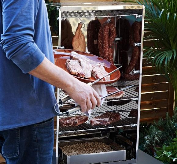 Afumatoare Carne din Inox Reber 10030N - Rumegus diferite esente