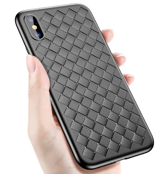 Husa telefon iPhone X, neagra, silicon TPU