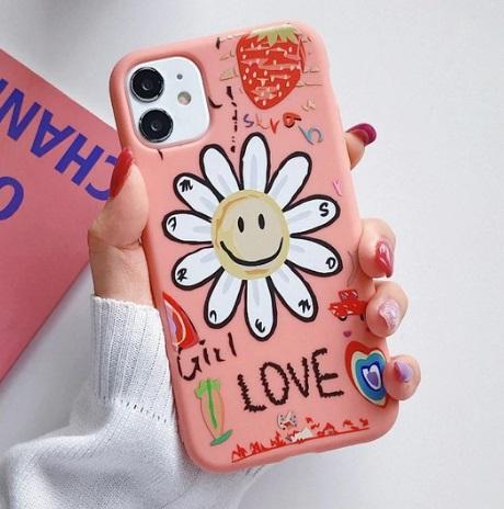Husa Telefon Huawei P40 Lite Roz Floare Silicon
