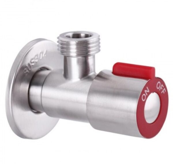 Robinet coltar instalatii sanitare MIXXUS 1/2×1/2, otel inoxidabil, rosu